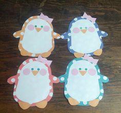 Penguin Love <3 Cute Winter Penguin RA Door Decoration.