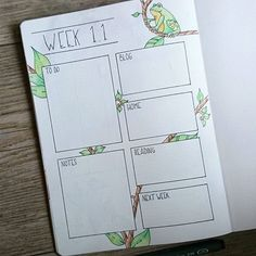 First half of my new weekly spread. Next week I'm going to the uni again, my…