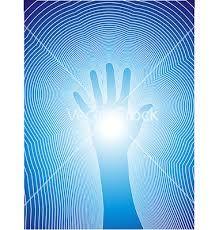 Image result for reiki hands blue