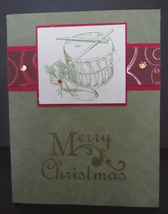 Clean and simple Christmas drum card.