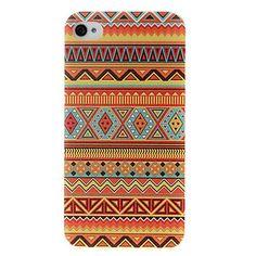 laranja estilo abstrato padrão sem emenda geométrico nacional caso de plástico rígido para o iPhone 4/4S – BRL R$ 10,30