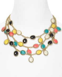 $13.95 Potpourri Bib Necklace - Inspired by Kate Spade TODAY on www.simpleaddiction.com