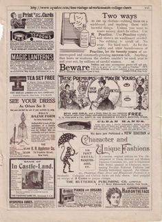 FREE Vintage Ads Collage Sheet