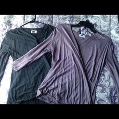 Two Wrap Shirts Two Old Navy wrap shirts, size small, barely worn, good condition. Old Navy Tops Blouses