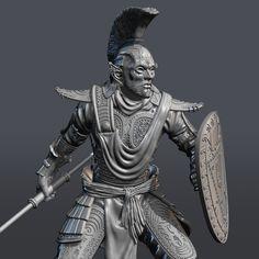 ArtStation - The Elder Scrolls Morrowind - Ordinator, George Opanasyuk Elder Scrolls Morrowind, Gamer Gifts, Sculpting, 3d Printing, Statue, Resin, Artwork, Kit, Prints