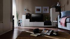Voelkel Muto Collection Grey Metal TV Console Frame (Metal Frame for TV Console) Television Console, Framed Tv, Murcia, Zara Home, Contemporary, Modern, Decorative Items, Bean Bag Chair, Ikea