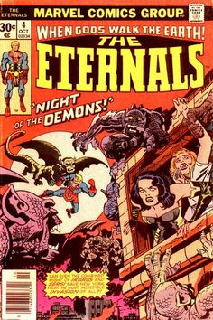 Eternals # 4 by Jack Kirby & Frank Giacoia