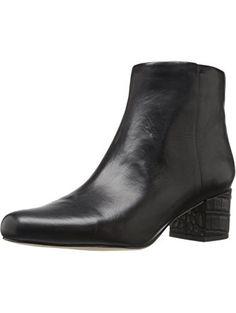 8e376a8ec Sam Edelman Women s Edith Black Modena Calf Leather Boot 10.5 M ❤ Sam  Edelman Calf Leather
