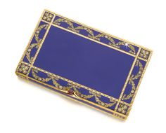 An Imperial Jewelled Gold and Enamel Cigarette Case, Hahn, workmaster Carl Blank, St Petersburg, 1895