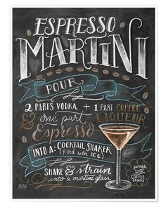 Lily & Val Espresso Martini recipe Poster at Posterlounge ✔ Fast delivery ✔ Large selection ✔ High quality prints ✔ Buy Lily & Val posters now! Espresso Martini, Expresso Martini Recipe, Martini Bar, Martinis, Petits Bars, Lily And Val, Best Espresso, Espresso Coffee, Coffee Art