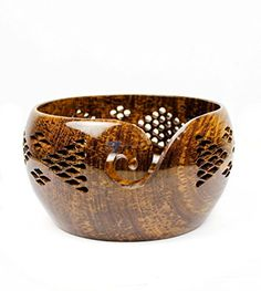 Nagina International Premium Rosewood Crafted Yarn Storage Bowls with Decorative Carved Handmade Grills - Knitting & Crochet Accessories Supplies (Large) Yarn Winder, Yarn Storage, Yarn Bowl, Wood Bowls, Easy Gifts, Amazon Art, Crochet Accessories, Sewing Stores, Decorative Bowls