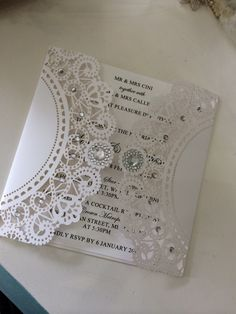 Pin by Over the Rainbow Invites on Laser cut invitations Pinterest