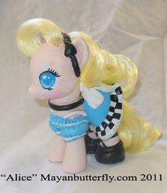 Alice in Wonderland G4 My Little Pony by mayanbutterfly.deviantart.com on @deviantART