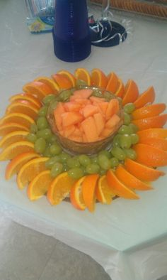 Fruit tray by pamela Fruit tray by pamela Fruit Decorations, Food Decoration, Wedding Decoration, Fruit Creations, Fruit Dishes, Fruit Trays, Rainbow Fruit, Party Trays, Fruit Displays