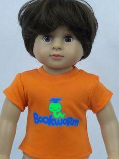 "Black Emoji T-Shirt Fits American Boy or Girl 18/"" Doll Clothes"