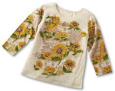 Sequin Sunflower Top