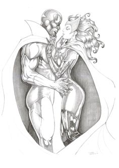 X Men Scarlet Witch Drawings | Vision and Scarlet Witch, in Eduardo Ramirez's My gallery Comic Art ...