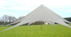 Partyzelt (Sternzelt) 13 x 5 Meter ideal für trendige Gartenpartys