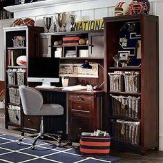 pb teen boy desk bedroom - Google Search