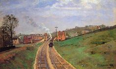 Lordship Lane Station, Dulwich, 1871 -Camille Pissarro - by style - Impressionism