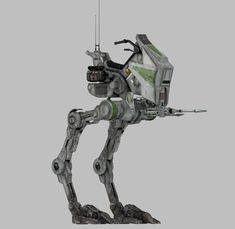 AT-RT. The All Terrain Recon Transport (AT-RT) was a emergency one-man bipedal… Nave Star Wars, Star Wars Ships, Star Wars Clone Wars, Star Trek, Maquette Star Wars, At Rt, Star Wars Vehicles, Galactic Republic, Star Wars Concept Art