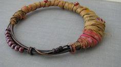 Cocoon bangle bracelet sari silk bracelet fair by PersimmonPearl