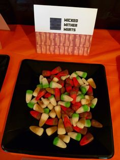 Minecraft Halloween Party ~ Wicked Wither Warts using Multi colored candy corn  #minecraft #halloween  #minecrafthalloween