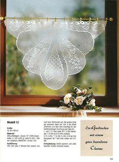 Diana Bistro Gardinen D 1302 - Zosia - Picasa Web Albums Crochet lacy kitchen (or bathroom) curtain
