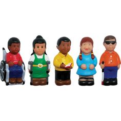 Set of 5 chunky multicultural friends with disabilities figures are soft and friendly. The characters help children learn about disabilities, safety and community through creative play. Approximate size x x children are approximately tall. For ages School Supply Store, Block Play, Learning Toys, Early Learning, Dramatic Play, Creative Play, Educational Games, Doll Accessories, Disability
