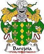 Barejoia Spanish Coat of Arms Print Family Crest Barejoia