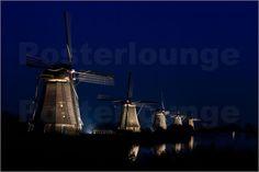 Molens Kinderdijk - Windmuhle Kinderdijk - Windmills Kinderdijk by Erwin Maassen van den Brink
