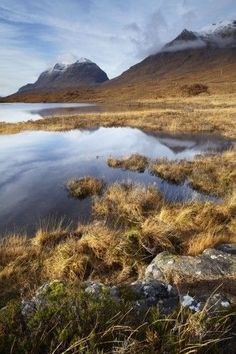 Loch Clair with Beinn Eighe and Liatach, Torridon region, Scottish highlands, Scotland, UK.