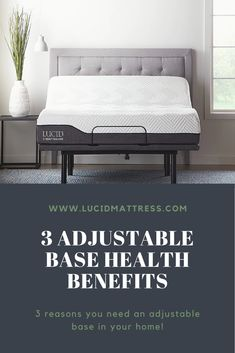 Adjustable bases can reduce back pain, alleviate acid reflux, and improve your breathing! Shop at www.lucidmattress.com