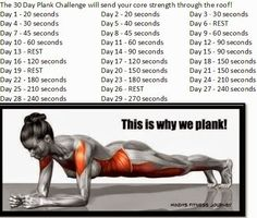 30 Day Plank Challenge Can Be Your Perfect Fitness Plan 30 Day Plank Challenge, Workout Challenge, Planking Challenge, February Challenge, Challenge Accepted, Workout Ideas, Fitness Diet, Fitness Motivation, Health Fitness