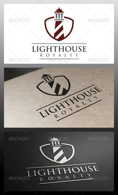 Lighthouse Shield Logo Template — Vector EPS #consulting #cinema • Available here → https://graphicriver.net/item/lighthouse-shield-logo-template/5337823?ref=pxcr