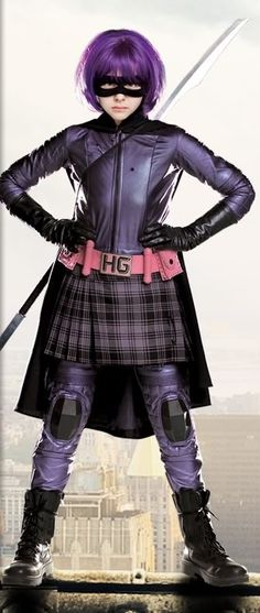 Adore chloe grace moretz, and just want to be hit girl. Bring on a third film! Hit Girl Costumes, Movie Costumes, Cosplay Costumes, Halloween Cosplay, Halloween Costumes, Girl Halloween, Fancy Dress, Dress Up, Chloë Grace Moretz