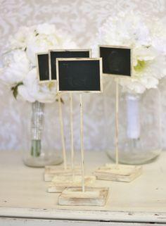 Rustic Chalkboard Signs Shabby Chic Wedding Decor SET of 4. $39.99, via Etsy.