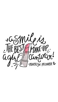 smile, quote, and makeup image