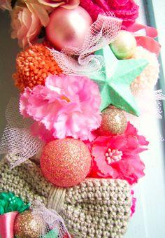 detalhe guirlanda crochet