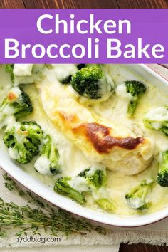 Are you looking for a quick and easy low carb dinner to serve for family dinner night that will also help you lose weight? Check out this Chicken Broccoli Bake recipe that's perfect for Keto or 17 Day Diet #lowcarb #lowcarbdinner #lowcarbmeals #lowcarbmealplanning #ketodiet #17daydiet #17daydietrecipes Best Low Carb Recipes, Diet Recipes, Chicken Recipes, Low Carb Meal Plan, Diet Meal Plans, Chicken Broccoli Bake, Lunches And Dinners, Meals, Low Glycemic Index Foods