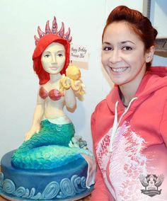 How to make a 3D sculpted mermaid cake