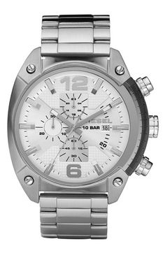 DIESEL® 'Overflow' Chronograph Bracelet Watch, 46mm x 49mm available at #Nordstrom