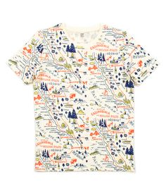 Map of California T shirt by ??