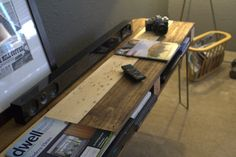 Multistain Rustic Media Console by 5thand12th on Etsy