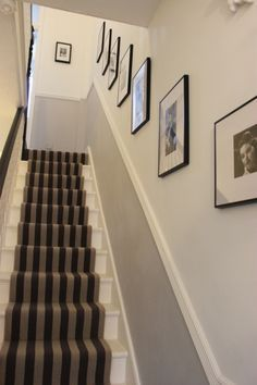 Ideas for the house hallway decorating, hallway designs, hallway colours. Home, Foyer Decorating, Carpet Stairs, Narrow Staircase, House, Hallway Colours, Narrow Hallway Decorating