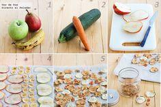 Chips de frutas y verduras. Receta