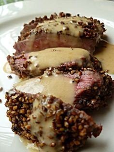 Steak Au Poive With A Brandy Cream Sauce