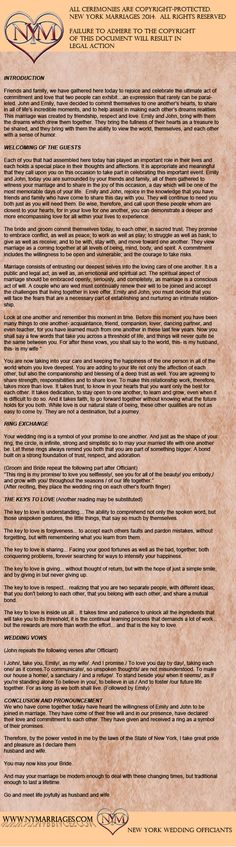 Wedding ceremony ideas church the bride ideas Wedding ceremony ideas church the bride ideas Wedding ceremony ideas church the bride ideas. wedding readings Wedding ceremony ideas church the bride ideas Wedding Ceremony Ideas, Non Religious Wedding Ceremony, Wedding Script, Wedding Readings, Civil Wedding, Wedding Quotes, Wedding Ceremonies, Wedding Speeches, Simple Wedding Ceremony Script