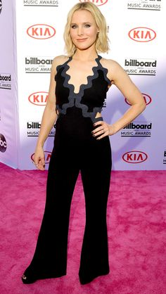 Billboard Music Awards 2016: All the Best and the Boldest Looks from the Red Carpet | People - Kristen Bell in a black Jonathan Simkhai jumpsuit