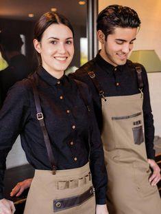Unisexe Vetements de Cuisine pour Hôtel Serveur Barman Restaurant M-3XL